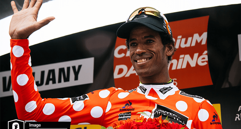 Daniel Teklehaimanot Secured the Polka Dot Jersey for the Second Year in a Row