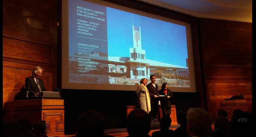 The 2016 RIBA President's Award for Research Goes to Asmara