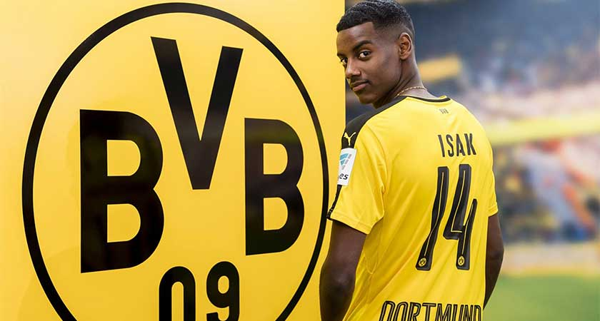 Borussia Dortmund Sign Sweden Striker Alexander Isak from AIK