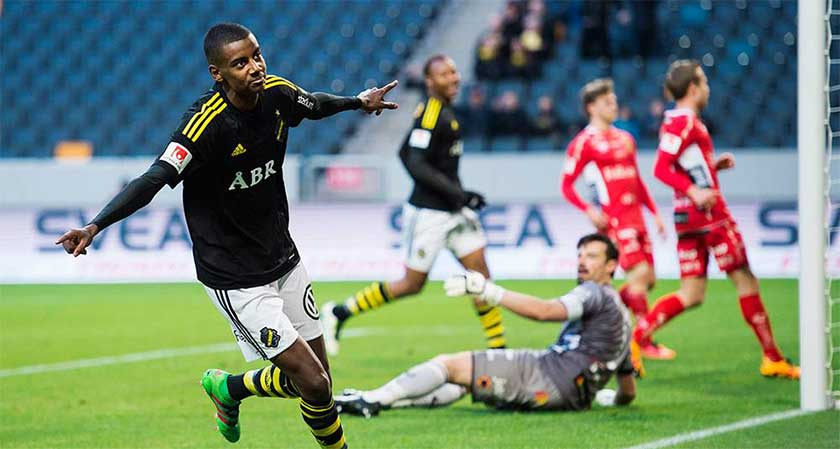 Alexander Isak made his professional debut with AIK in February 2016.