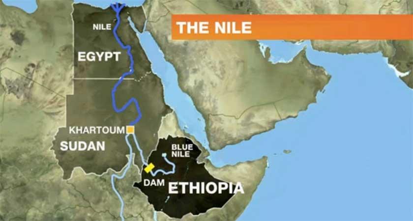 Egypt Ethiopia A River Runs Through An African Rivalry - Map of egypt ethiopia