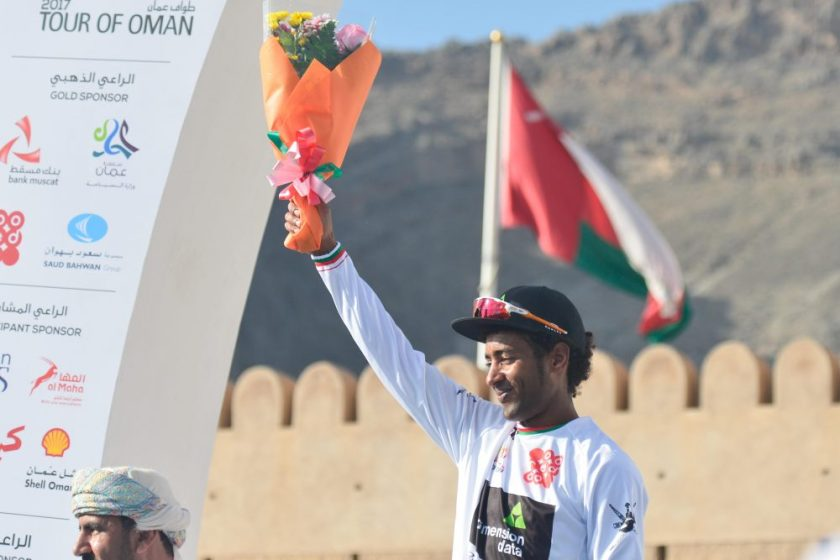 Kudus winning the Tour of Oman 2017