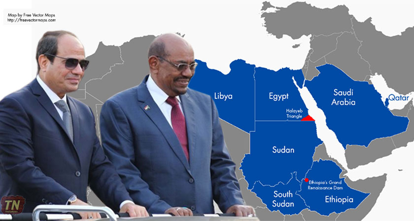 Egypt and Sudan are caught up in African and Middle Eastern politics