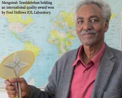 Mengsteab Teweldebrhan, GM of FH IOL Lab, Asmara