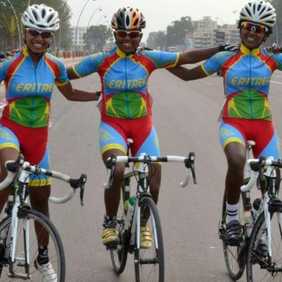 The Eritrean women's cycling team