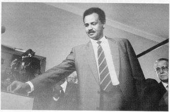 The PGE Secretary-General Mr. Isaias Afwerki casting his vote
