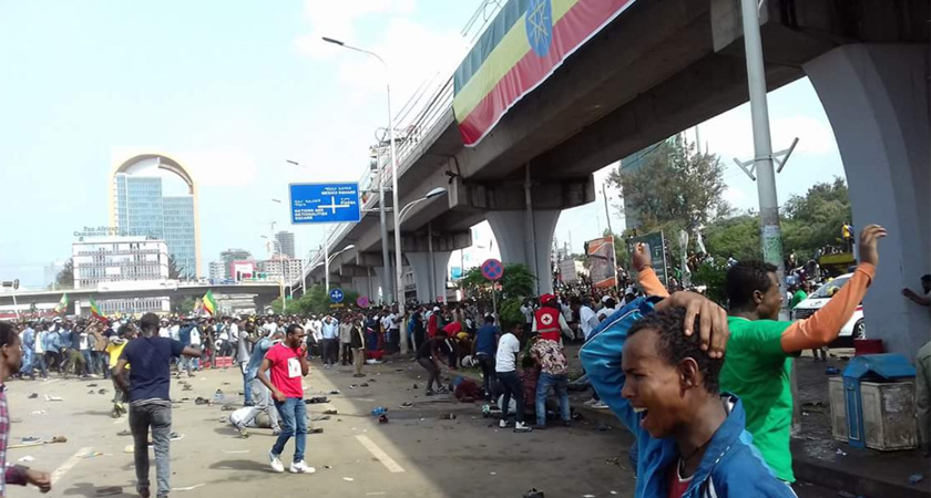 Deadly Explosion Disrupts #March4Abiy Rally