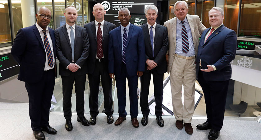 Ambassador Estifanos Habtemariam attended the launch of Danakali Limited in London Stock Exchange