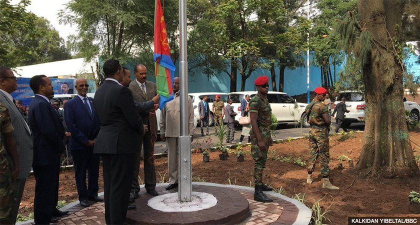 The official reopening of the Eritrean Embassy in Addis Ababa, Ethiopia