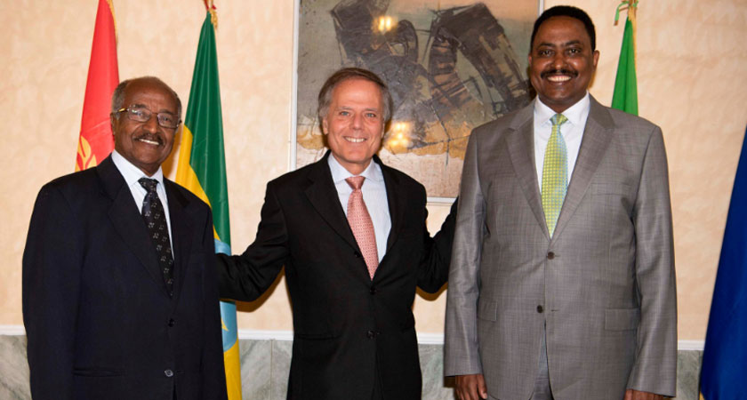 Italy's Foreign Minister Meets Counterparts from Eritrea and Ethiopia