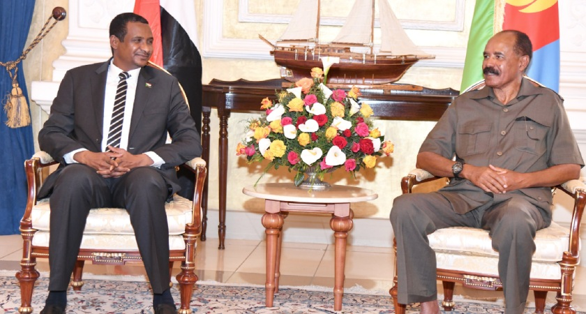 Afwerki, Hemetti Held Talks on Bilateral Relations, Sudan's Peace Talks