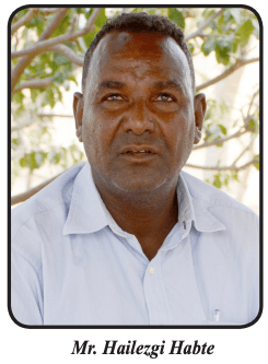 Mr. Hailezgi Habte, manager of Southwest Farm Zone in the Gash-Barka region