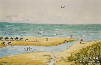 Myrtle Beach Landscape #2. 15×22. Watercolor on paper. Plein Air.