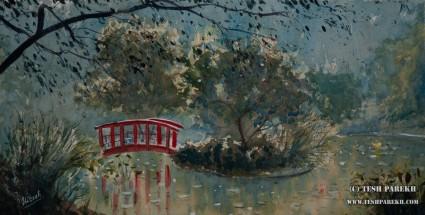 Wilmington Arboretum. Plein Air. Watercolor on paper.