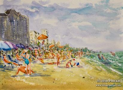 myrtle-beach-sc-plein-air-beach-painting-watercolor-2-tesh-parekh