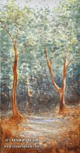 Raleigh Fine Art Plein Air Watercolor  Painting Durant Park