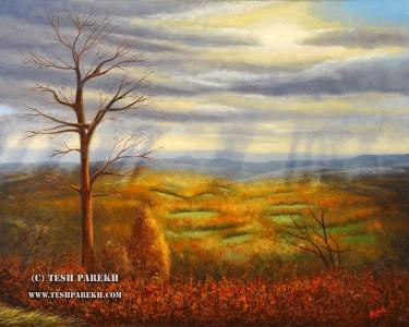 Blue Ridge Landscape by Tesh Parekh