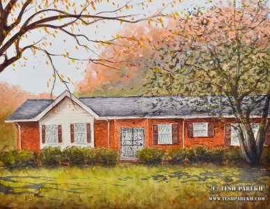 Fleming Home Commission. Watercolor on paper. 11x14. Artist - Tesh Parekh