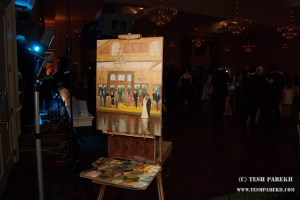 Live Wedding Reception painting at NRCC