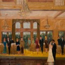 First dance of Katherine and Manny. Live wedding painting at NRCC. 18x24 oil on linen.