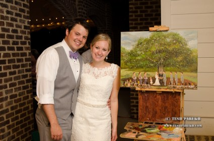 Live wedding painting in Apex NC by Tesh Parekh