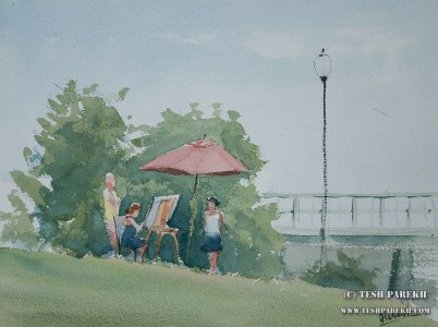 Southport Paintout. Plein Air. Watercolor on paper.