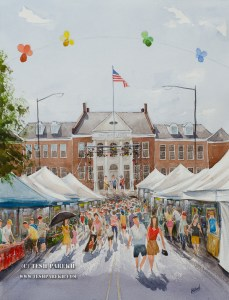 My featured painting of the Cary Lazy Daze 2014.