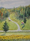 Mountain Road, Galax VA. Watercolor painting on paper.