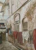 Wash Day. Watercolor painting on paper. Clothes are still hand washed and dried on the clothes line.