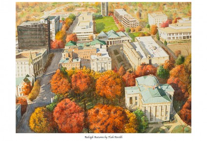 """Raleigh Autumn"". 12x16 signed print on 13x19 watercolor paper."