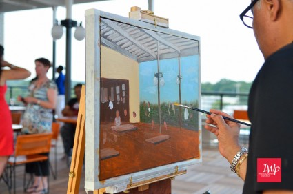 LIVE Oil Painting 16X20 for the Durham CVB