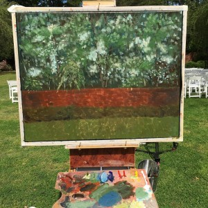 Southern Pines, NC LIVE Wedding Painting, Carol & Bruce
