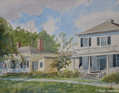 """Bay Street, Southport"". Southport NC paintings. Watercolor on paper. Original sold, prints available"