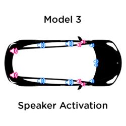 Model 3 SR+ Speaker Activation