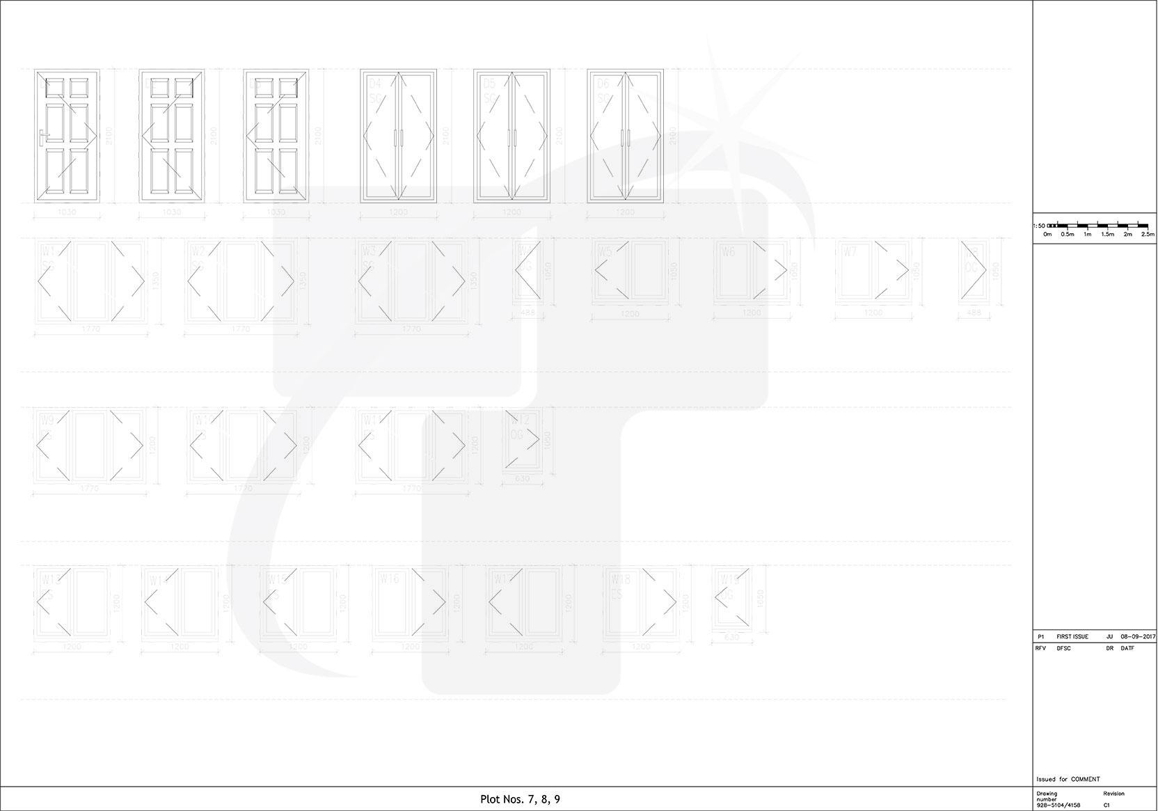hight resolution of external door window schedule