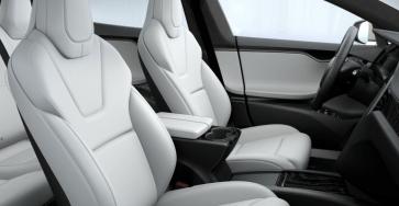 Ultra white Model S seats