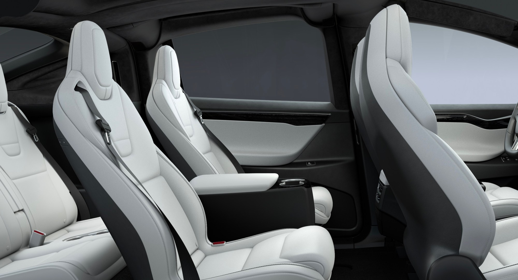 hight resolution of tesla model x rear center console 6 seat