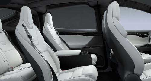 small resolution of tesla model x rear center console 6 seat