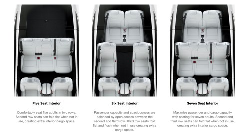 small resolution of model x offers three types of seating configuration