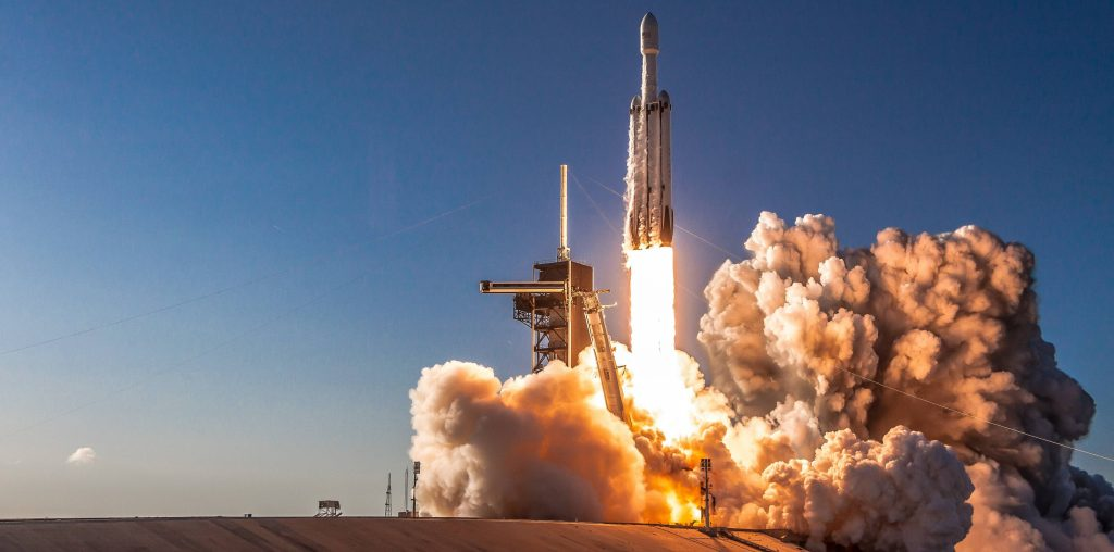 A different angle of Falcon Heavy Flight 2's liftoff from Teslarati photographer Pauline Acalin. (Pauline Acalin)