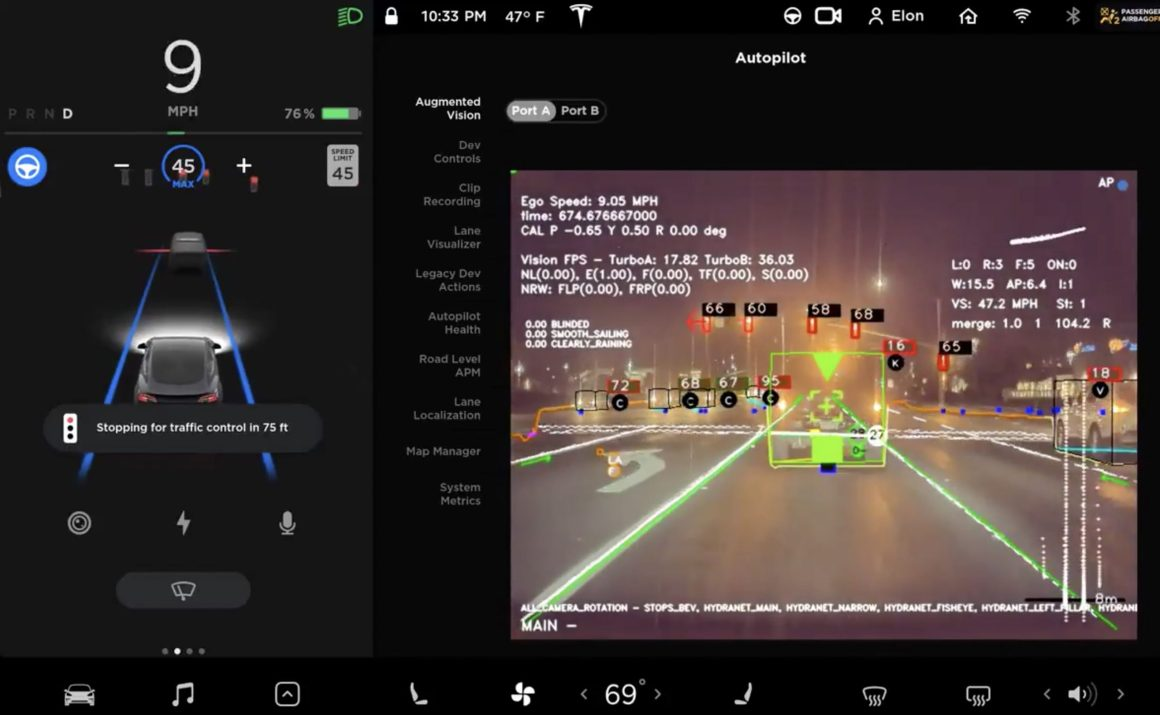 Tesla Full Self-Driving's cool augmented reality view previewed by noted  hacker
