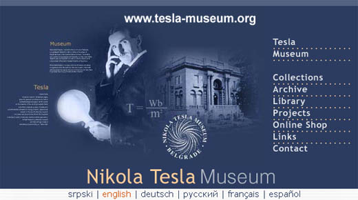 Nikola Tesla Museum in Belgrade Website