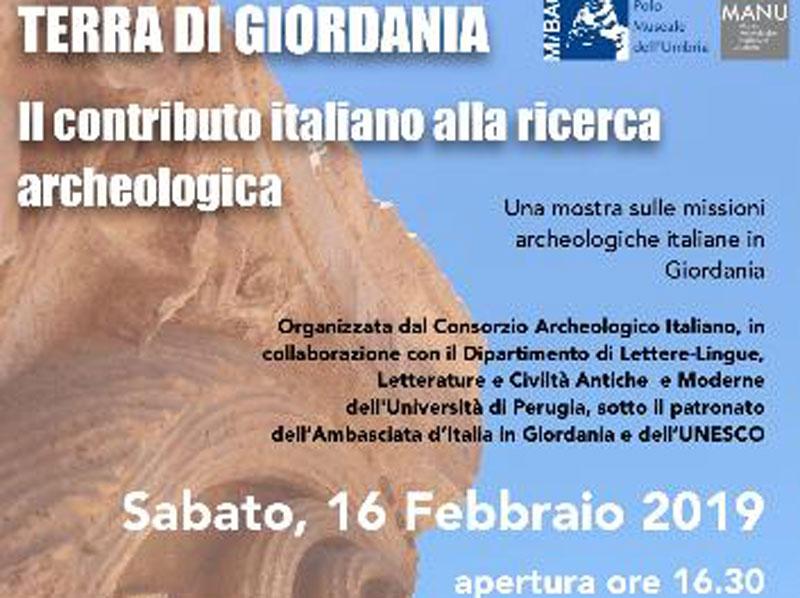 """Sabato 16 febbraio alle 16,30 inaugurazione al Manu della mostra """"Terra di Giordania. Il contributo italiano alla ricerca archeologica"""""""