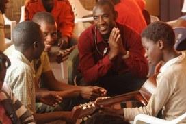 guitar lesson in a music school