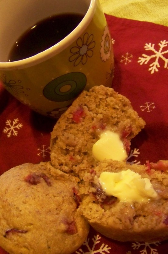 Cranberry Orange Muffins - Gluten Free & Vegan