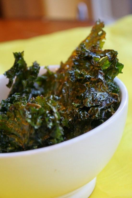 Kale Chips, Oven Method