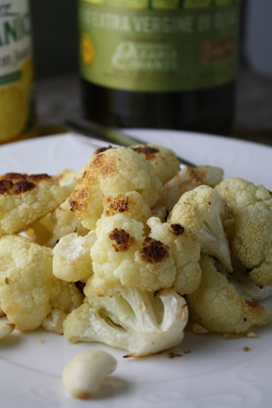 Quick Roasted Cauliflower w/ Lemon & Garlic
