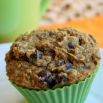 Pumpkin Chocolate Chip Muffins - Gluten Free & Vegan