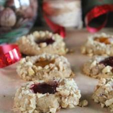 Gluten Free - Vegan Thumbprint Cookies