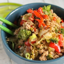 Quick Asian Stir Fry w/ Hamburger – Paleo | Keto | Whole30